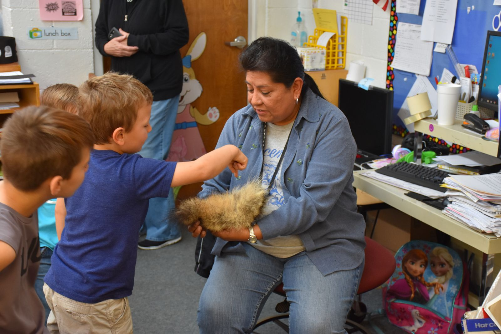 Fluffy bunnies visit the elementary!